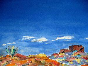 Painted land #2 ~ Watercolor by John Klobucher
