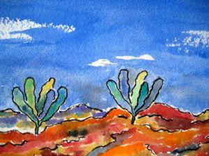 Trees of life ~ Watercolor by John Klobucher