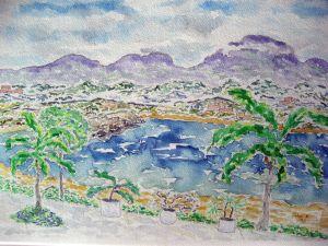 Mexican shores #2 ~ Watercolor by John Klobucher