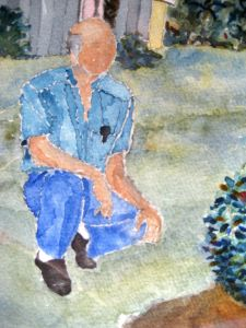 Frank ~ Watercolor by John Klobucher