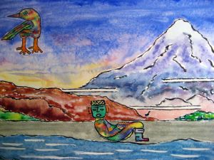 Lore of the Maya ~ Watercolor by John Klobucher
