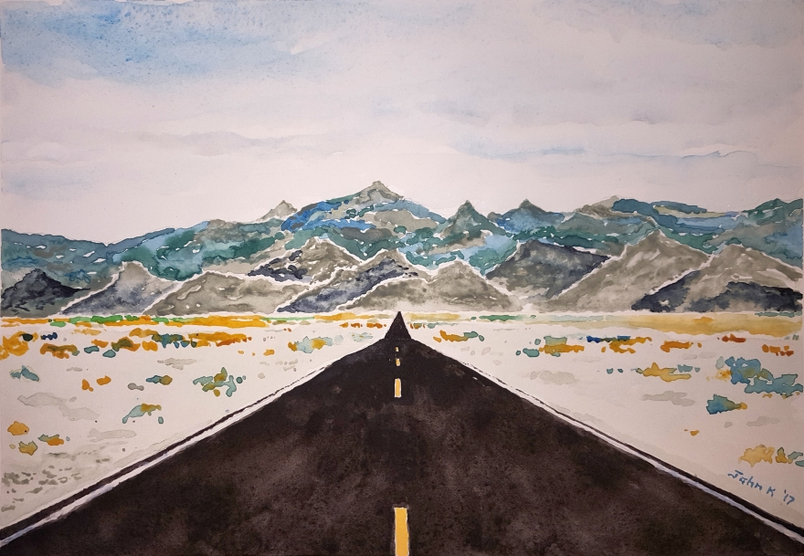 Death Valley Lore #1 ~ Watercolor by John Klobucher