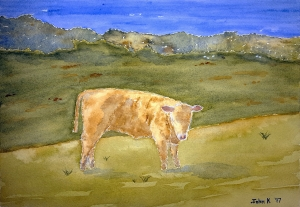 Jersey Lore #1 ~ Watercolor by John Klobucher