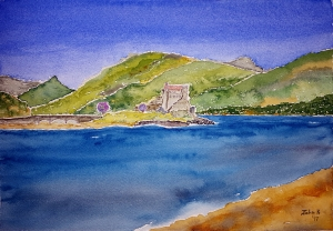 Loch Lore #1 ~ Watercolor by John Klobucher