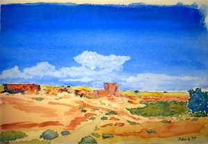Sandstone Lore #1 ~ Watercolor by John Klobucher