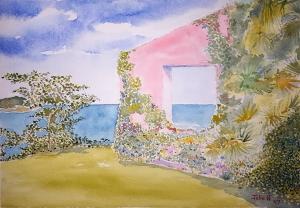 Tropical Lore #1 ~ Watercolor by John Klobucher