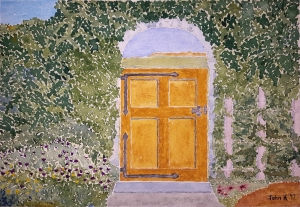 Garden Lore #1 ~ Watercolor by John Klobucher