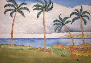 Hawaiian Lore #1 ~ Watercolor by John Klobucher