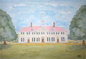 Martha's House of Lore #1 ~ Watercolor by John Klobucher