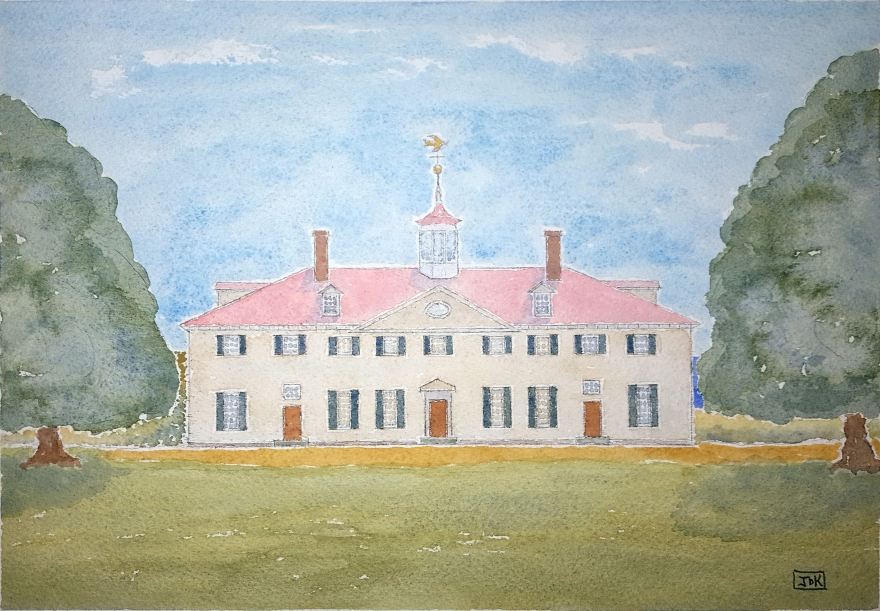 Martha's House of Lore #1 ~ Watercolor by John Klobucher