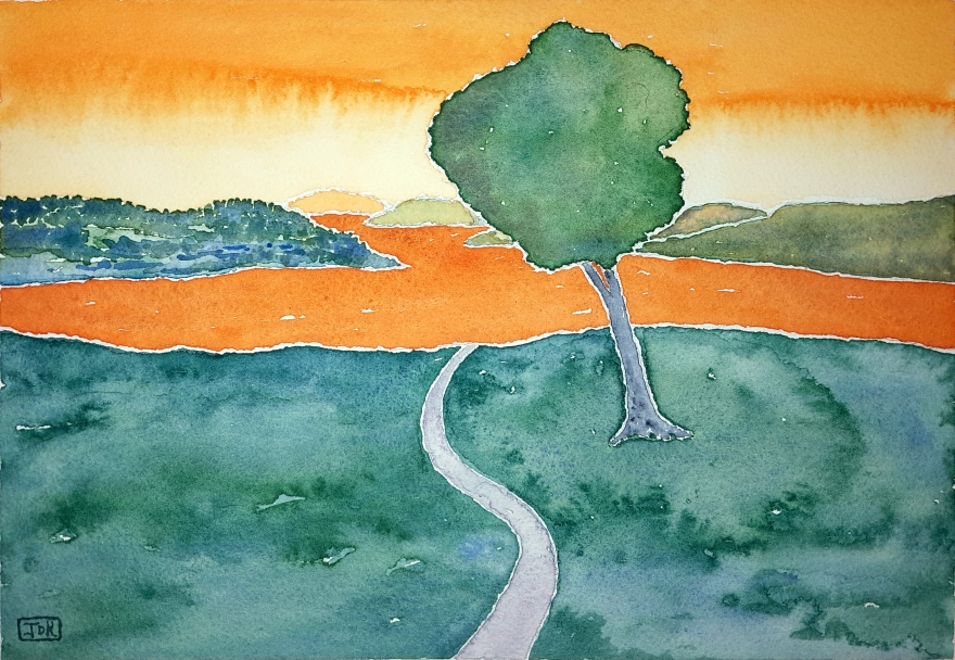 Mohican Lore #1 ~ Watercolor by John Klobucher