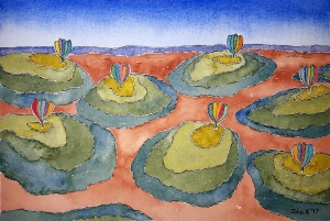Seven Hill Lore #1 ~ Watercolor by John Klobucher
