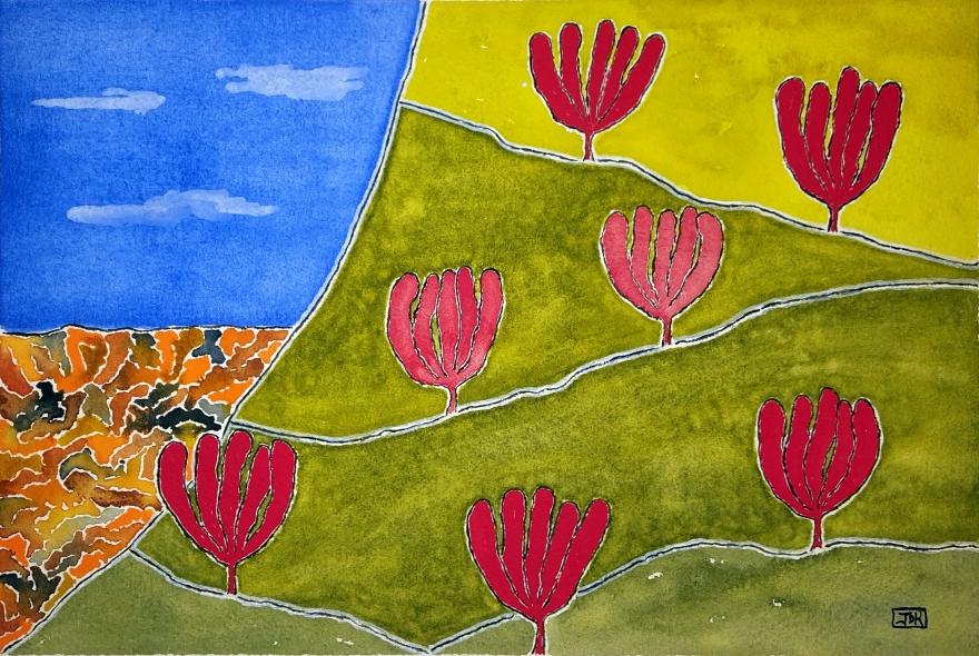 Sun Canyon Lore #1 ~ Watercolor by John Klobucher
