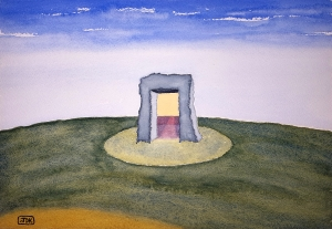 Door to the Lore #1 ~ Watercolor by John Klobucher