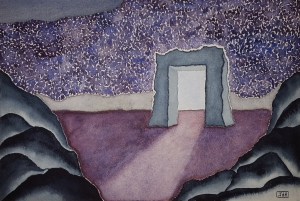 Door to the Lore #3 ~ Watercolor by John Klobucher