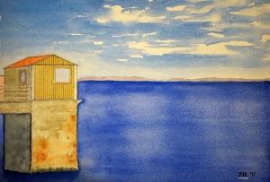 Monterey Lore #1 ~ Watercolor by John Klobucher
