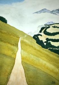 Path of Lore #1 ~ Watercolor by John Klobucher