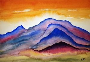 Planet IV Lore #1 ~ Watercolor by John Klobucher