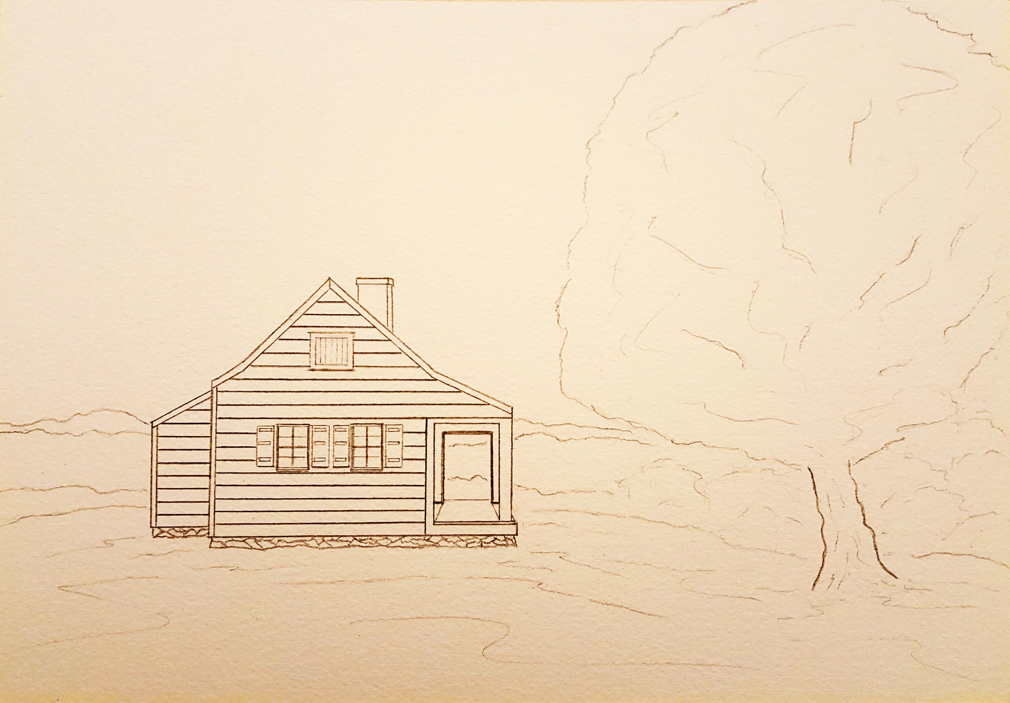 New Sketch Saratoga Farmhouse Lore
