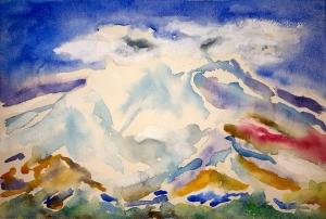 Lost Mountain Lore #1 ~ Watercolor by John Klobucher