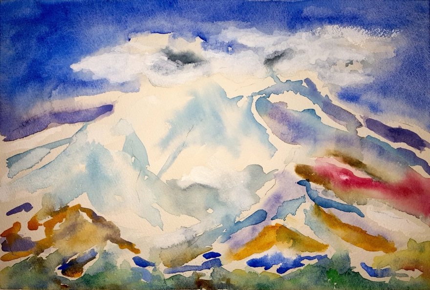Lost Mountain Lore #1 ~ Watercolor by John Klobucher