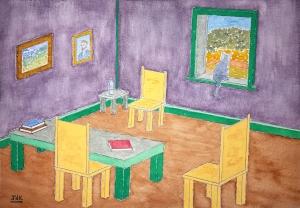 Provence Parlor Lore #1 ~ Watercolor by John Klobucher