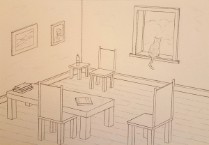 Provence Parlor Lore #1 ~ Sketch by John Klobucher