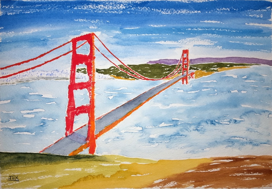 Golden Gate Lore #1 ~ Watercolor by John Klobucher