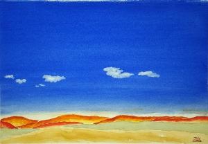 Big Sky Lore #1 ~ Watercolor by John Klobucher