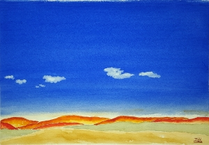 Big Sky Lore #1 ~ Watercolor by John Klobucher