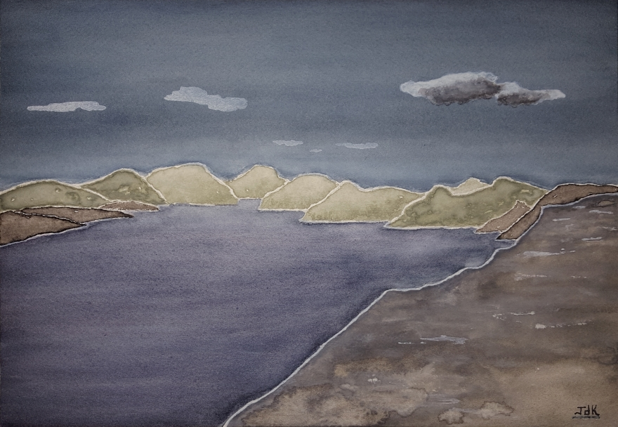 Gray Skye Lore #1 ~ Watercolor by John Klobucher