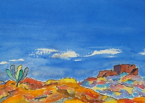 Painted Desert Lore #1 ~ Watercolor by John Klobucher