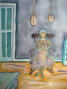 Lady of the House Lore #1 ~ Watercolor by John Klobucher