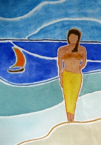 Tahitian Morning Lore #1 ~ Watercolor by John Klobucher
