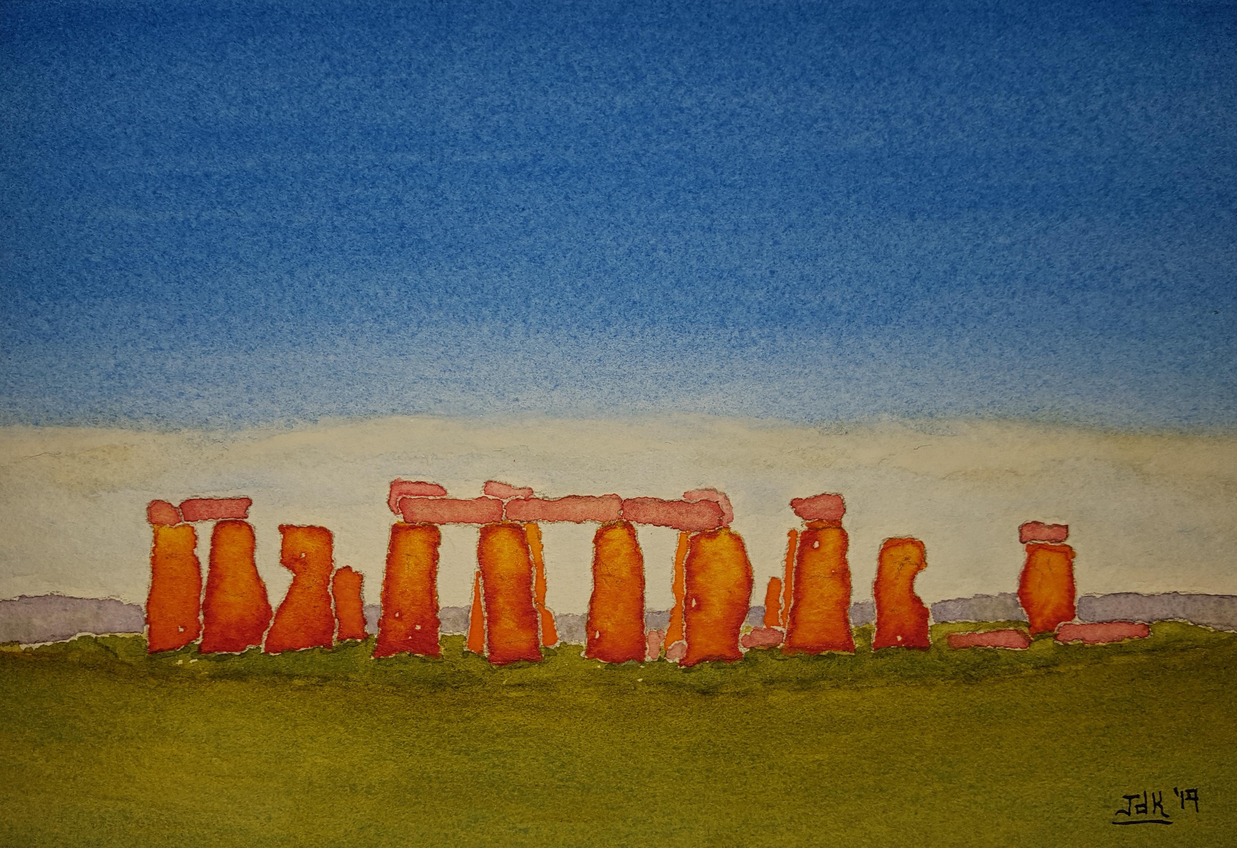 Stones of Lore #1 ~ Watercolor by John Klobucher
