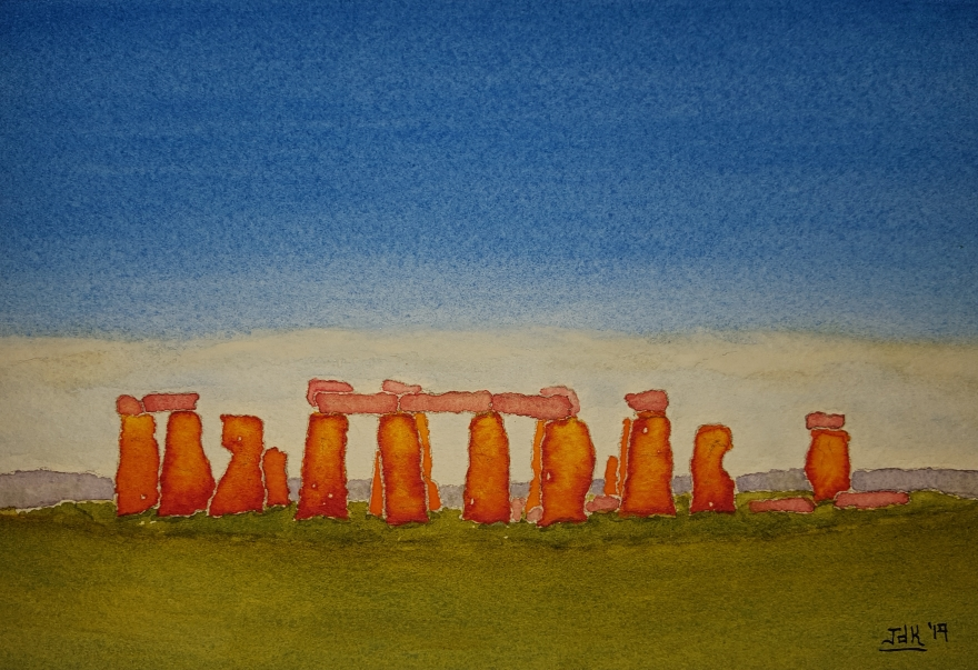 Stones of Lore #1 ~ Watercolor by John Klobucher
