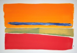 Prairie Fire ~ Watercolor by John Klobucher