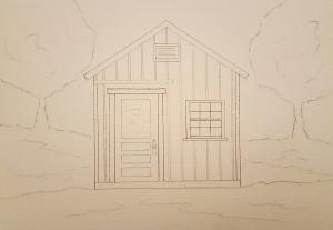 Cannery Shack ~ Sketch by John Klobucher