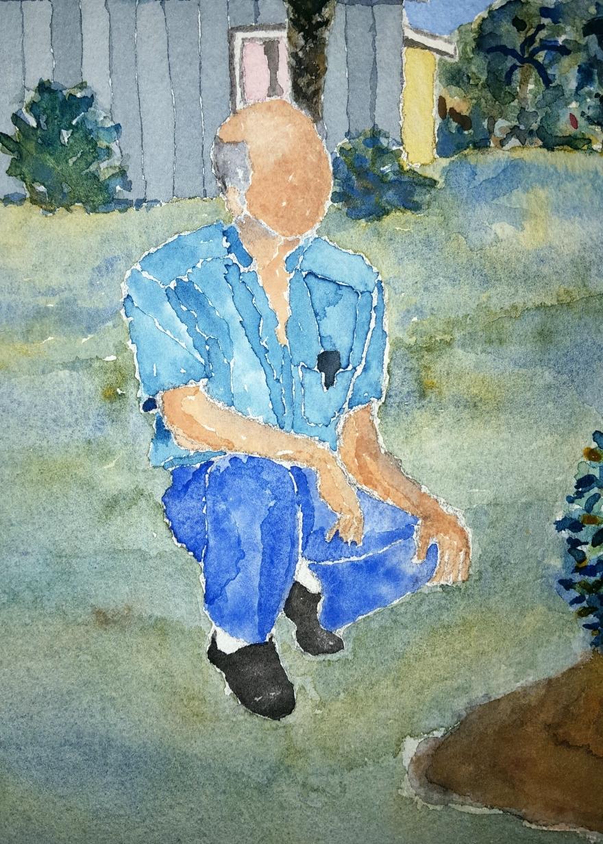 Frank ~ Watercolor by John Klobucher