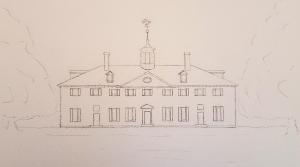 Mount Vernon ~ Sketch by John Klobucher