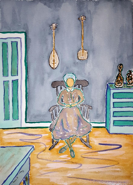 Sadie Jones ~ Watercolor by John Klobucher