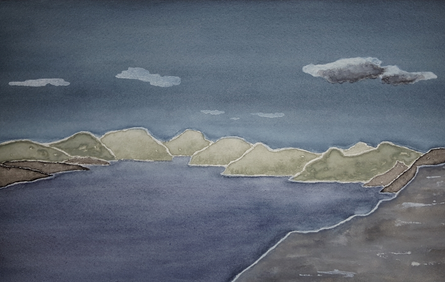 Sea and Skye ~ Watercolor by John Klobucher