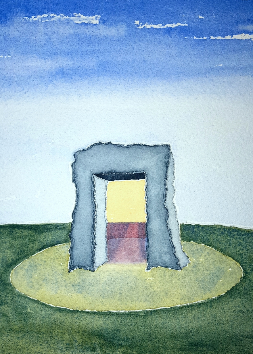 The Portal ~ Watercolor by John Klobucher
