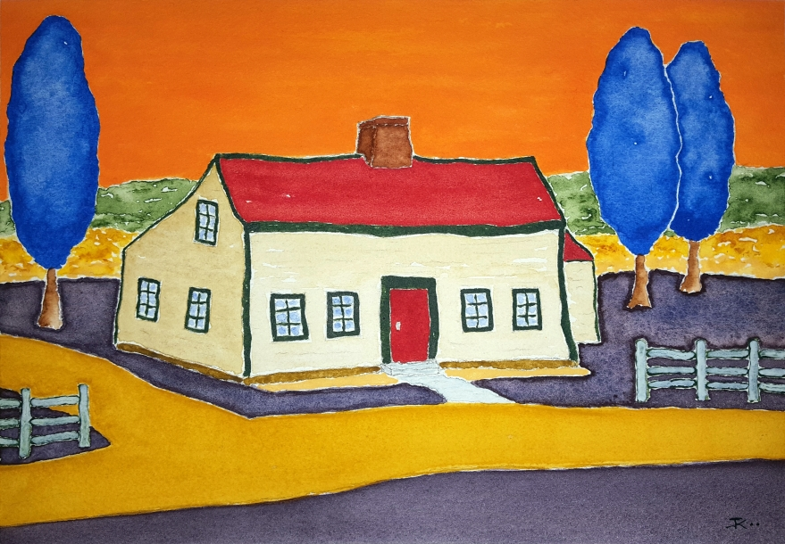 Vincent's Farmhouse ~ Watercolor by John Klobucher