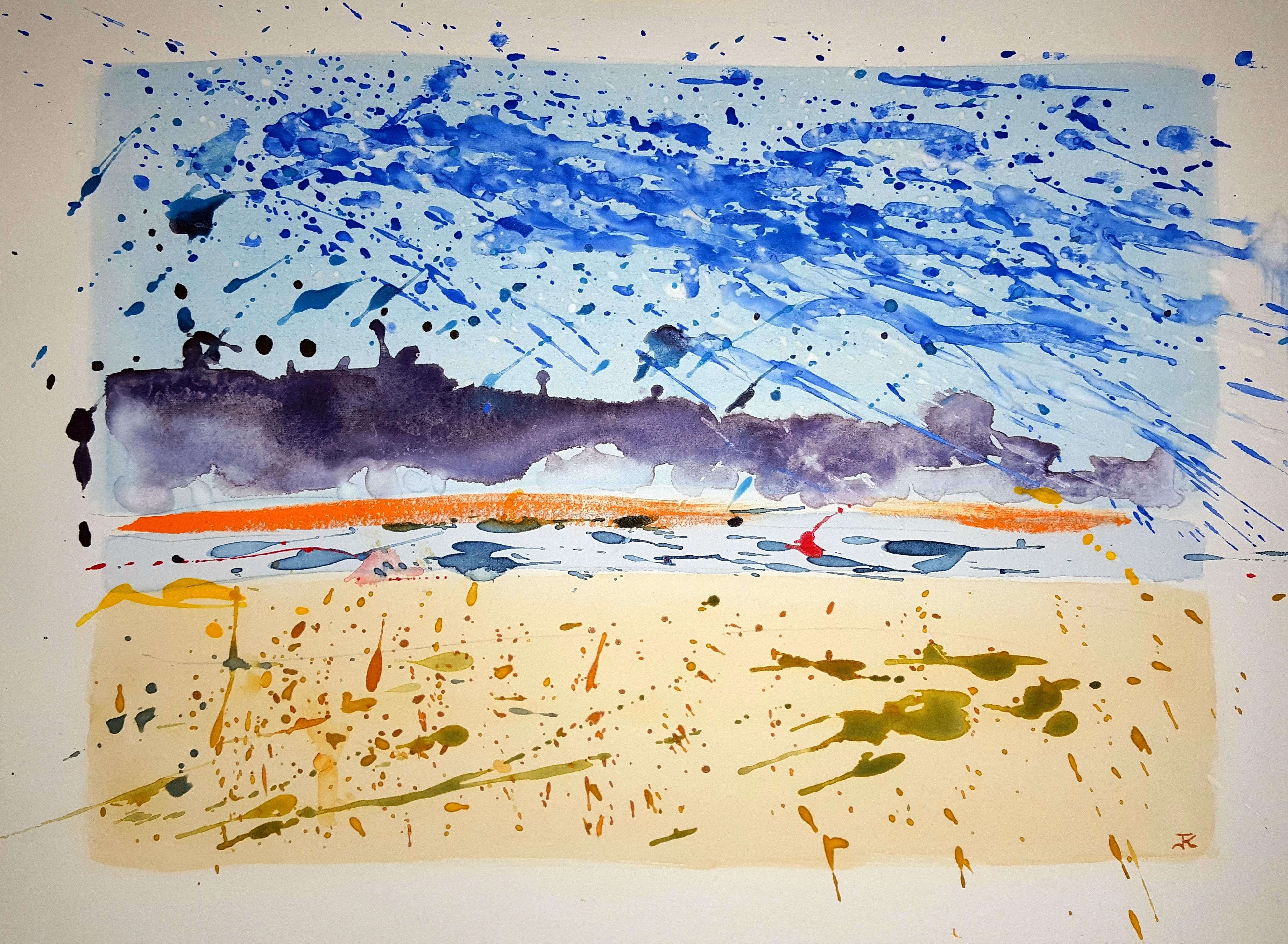 Chatham Harbor ~ Watercolor by John Klobucher